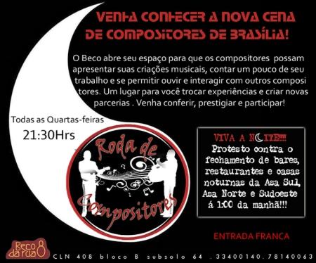 Roda de Compositores de Bras�lia DF _ Beco da Rua8.