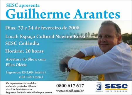 SESC-DF apresenta Show de GuilhermeArantes