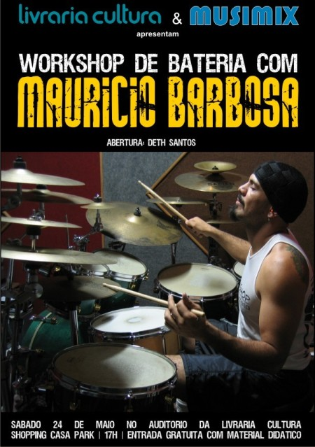 24/5> Workshop de Bateria com Mauricio Barbosa